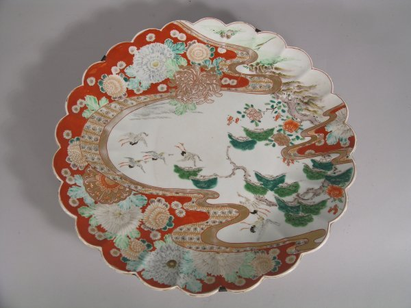 1C: A Japanese Arita charger, late 19th / early 20th ce