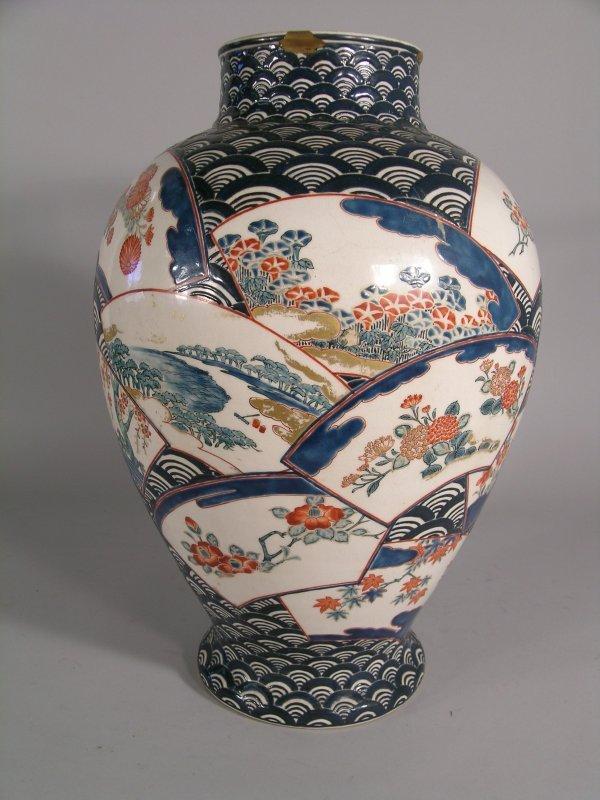 11C: A Japanese Satsuma earthenware vase, Meiji period