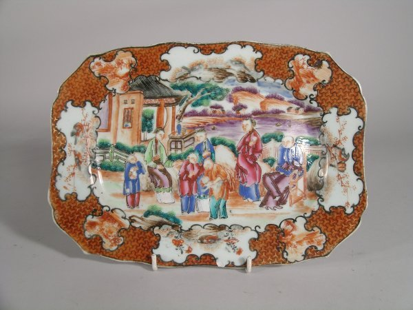16C: A Chinese famille rose porcelain stand, Qianlong (