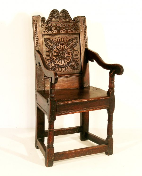 189C: A back stool, late 17th century, oak, Welsh, the