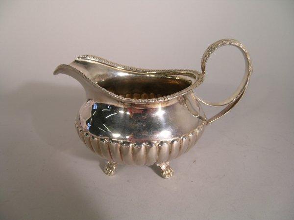 11B: A George IV silver cream jug, James Le Bass, Dubli