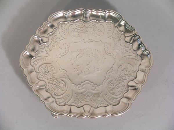 18B: A silver card salver Benjamin Godfrey, London 1740