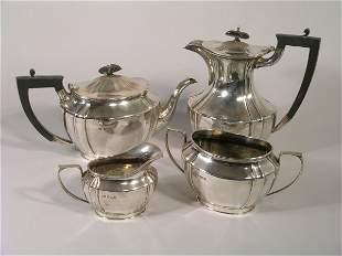 A four piece tea and coffee service, Sheffield 192