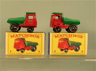 Two boxed Matchbox regular wheel models of the no.