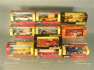A group of ten boxed Solido models to include a Por
