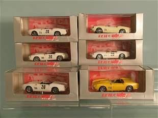 Five Vitesse Le Mans Ferrari 250s, also two yellow