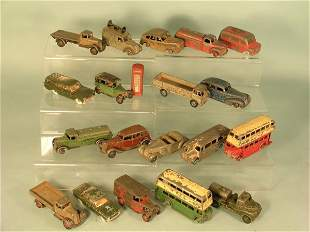 A group of nineteen Dinky Toys from the 1940s and 1