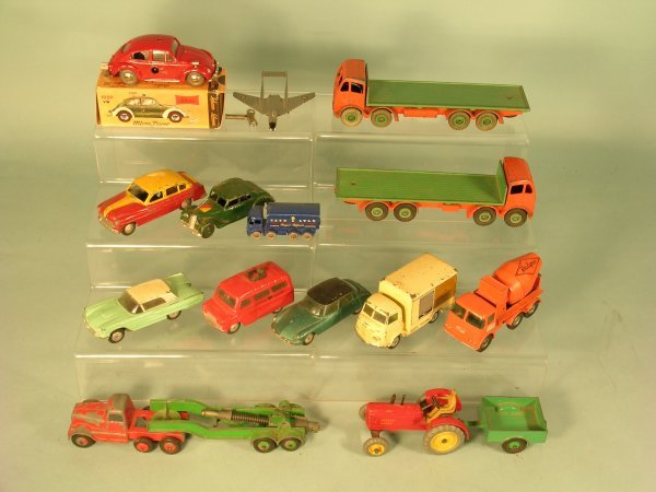 9C: A mixed group of unboxed diecast toys dating from t
