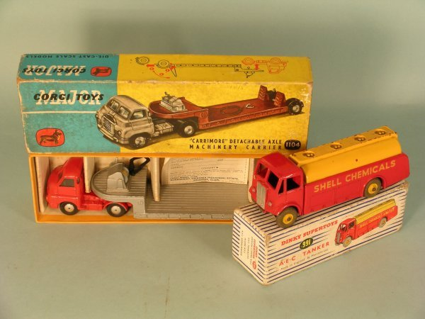 10C: A Dinky Supertoys 991 AEC Tanker, boxed, this vers