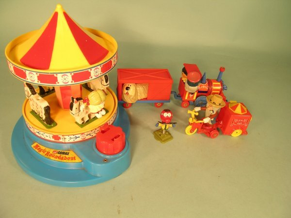 15C: A group of Corgi Magic Roundabout vehicles and fig
