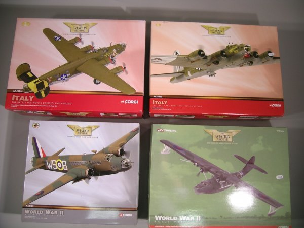 16C: Corgi Aviation Archive, four 1:72 scale models No.