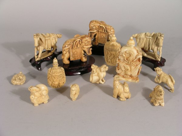6D: A collection of Japanese ivory netsuke and Chinese