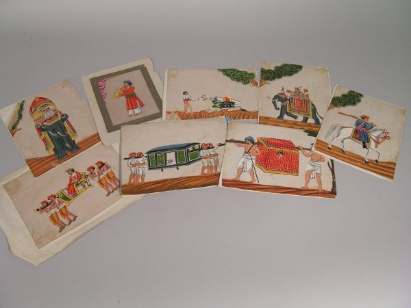 7D: A collection of nine Indian gouaches, probably Delh
