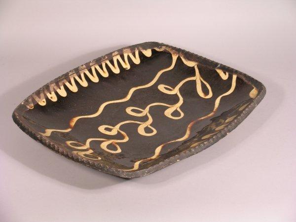 18D: A large slipware dish, 18th/19th century,