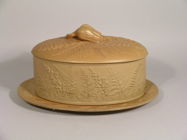 19D: A stoneware tureen, cover and stand, 19th century,