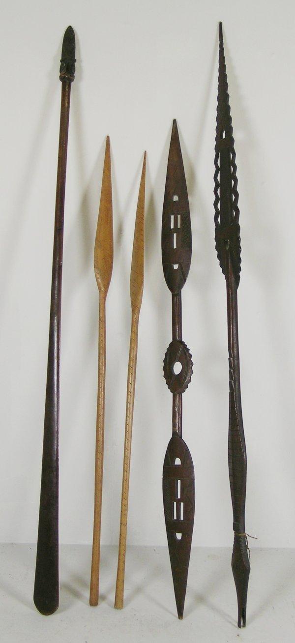 77D: A Maori fighting spear or tao-kete, two Solomon Is