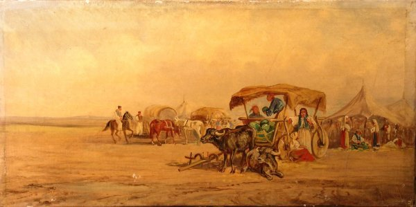 1B: Derfla, 'A Farmer on horse and cart on the Russian