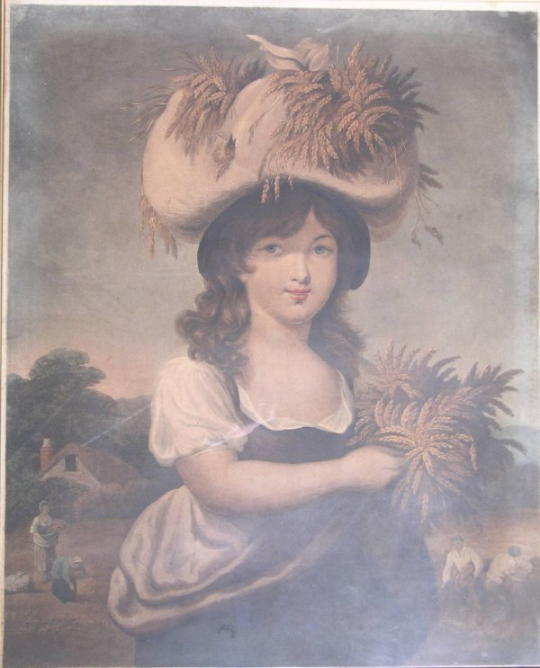 2B: After Richard Corbould, 'Pretty harvest girl', hand