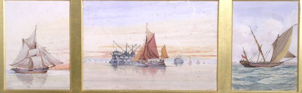 3B: W R Kennedy, 'On the Medway', watercolour, signed w