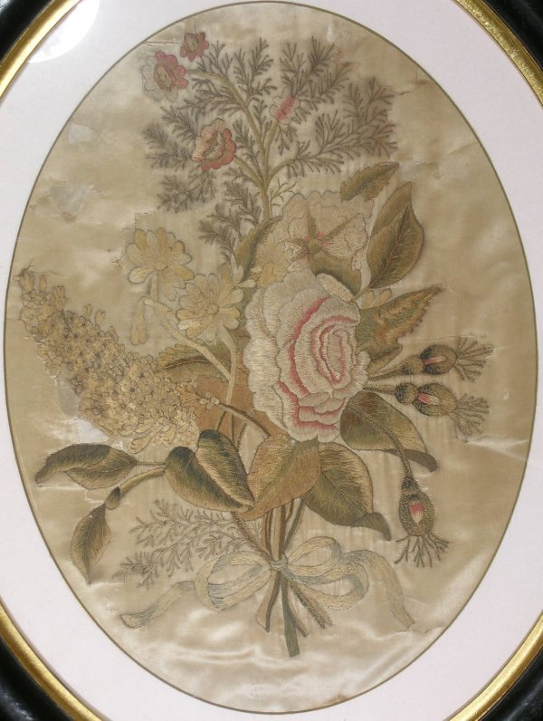 8B: An early 19th century silk embroidered picture depi