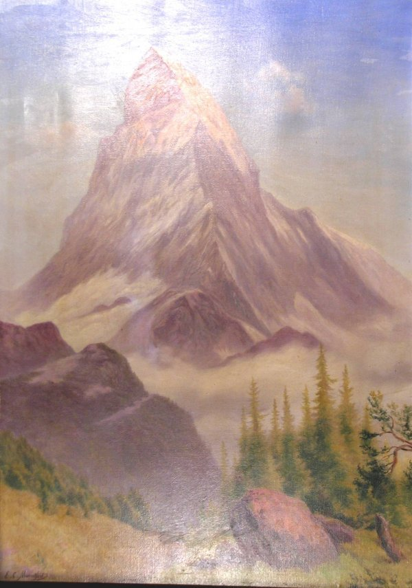 10B: E C Mountford, 'A view of the Matterhorn', oil on