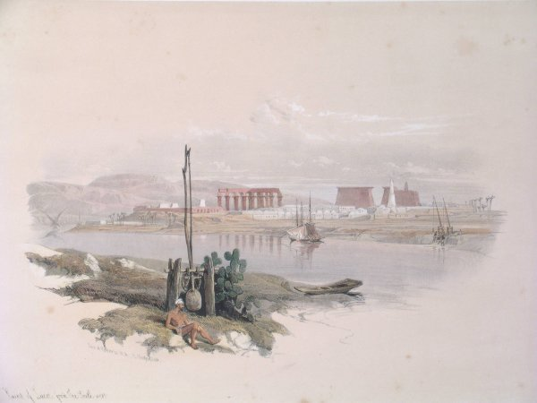 13B: After David Roberts RA, 'Ruins of Luxor from the S