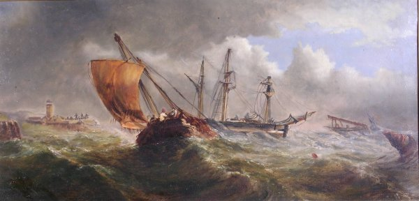 15B: Follower of Charles Thornely, 'Fishing boats and o