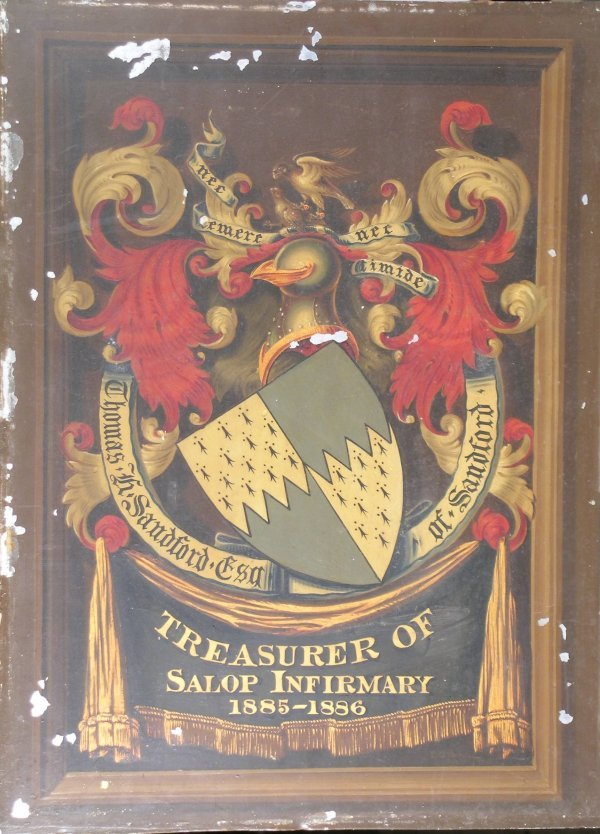 20B: A Victorian painted tin plaque depicting the coat