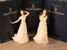 244B: five Royal Doulton figures from sentiments series