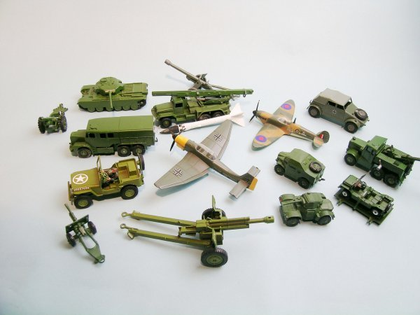5C: A group of sixteen Dinky military vehicles, unboxed