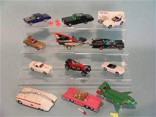 A group of twelve unboxed Dinky and Corgi TV and fi