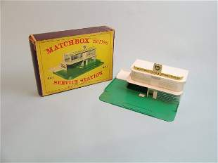 A Matchbox Series MG-1 service station (BP), the it