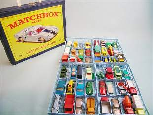 A Matchbox collector's case, dating from mid to la