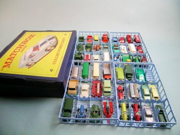 12C: A Matchbox collector's case containing 47 Matchbox