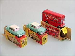 Three boxed Dinky toys, a no. 289 Dinky Toys Route