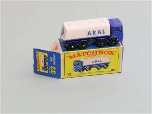 A Matchbox series Aral AEC tanker (no. 32), this e