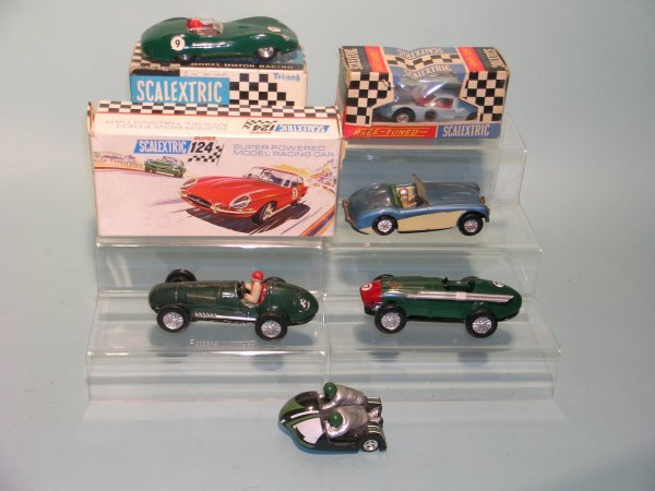 80C: A group of early Scalextric vehicles to include a