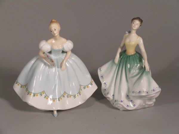 6B: Two Royal Doulton figures; Cynthia HN2440, 18.5cm h