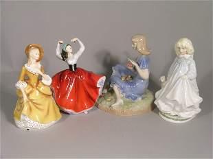 Four Royal Doulton figures, to include; Karen HN238