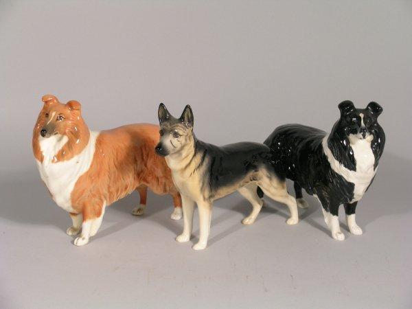 14B: Three Beswick dogs, to include; Collie, Lochnivar