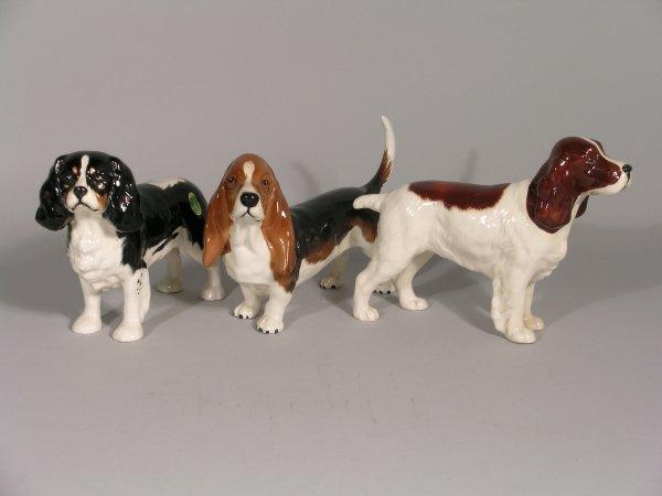 15B: Three Beswick dogs, to include; Cocker Spaniel Hor