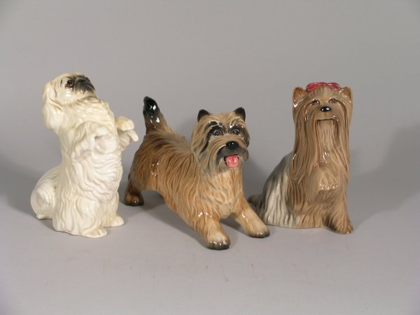 16B: Three Beswick dogs, to include; Cairn Terrier, sec