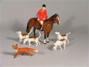 A Beswick six piece hunting group, comprising; a h
