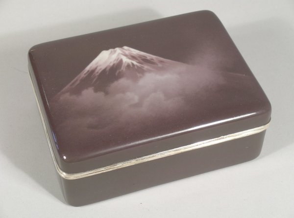 14C: Ando, a Japanese rectangular enamel box, early 20t