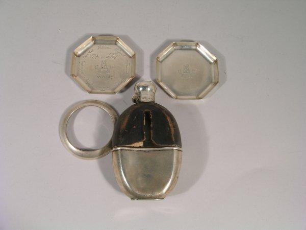 6B: A silver teapot, Elkington & Co, Birmingham 1919, o