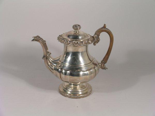 10B: A George IV silver coffee pot Waterhouse, Hodson &