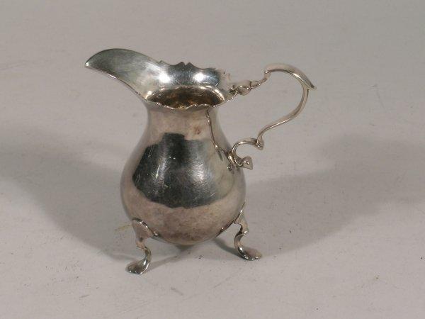 21B: A George II silver cream jug, Richard Gosling, Lon
