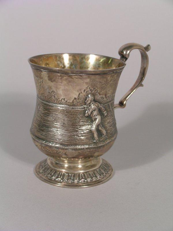 24B: A Victorian silver Bowling mug, London 1841, possi