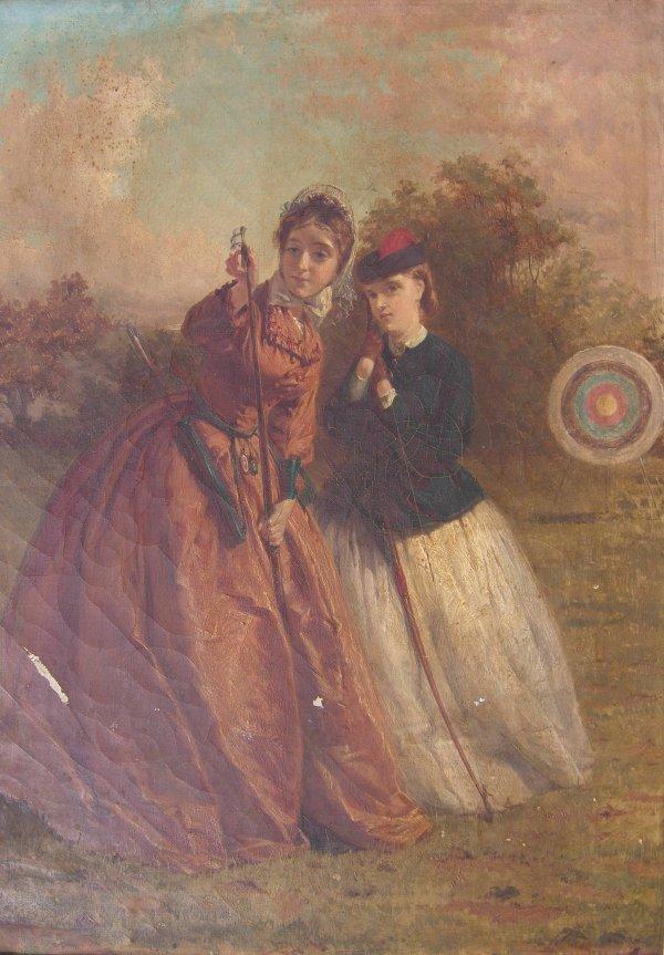 344B: George Elgar Hicks, RBA (1824-1914) 'Archery prac
