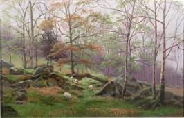 353B: William Mellor (1851-1931) ' On the Winnage', oil